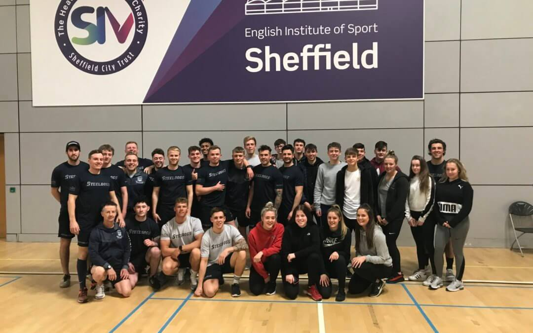 Year 12 BTEC Sport students work with Sheffield Steeldogs